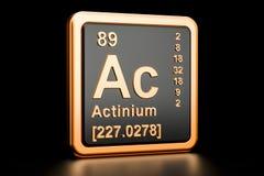 Élément chimique à C.A. d'actinium rendu 3d Images libres de droits