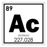 Élément chimique d'actinium Photos libres de droits