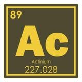 Élément chimique d'actinium Images stock
