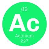 Élément chimique d'actinium Images libres de droits