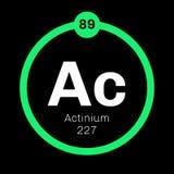 Élément chimique d'actinium Photographie stock libre de droits
