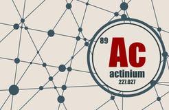 Élément chimique d'actinium Photos stock