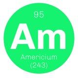 Élément chimique d'américum Photographie stock libre de droits
