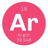 Élément chimique d'argon Photo stock