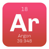 Élément chimique d'argon Images stock
