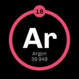 Élément chimique d'argon Image libre de droits
