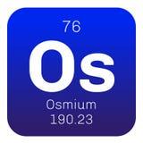 Élément chimique d'osmium Photos stock