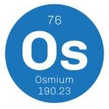 Élément chimique d'osmium Images libres de droits