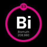 Élément chimique de bismuth Images libres de droits