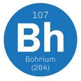 Élément chimique de Bohrium Photos libres de droits