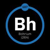 Élément chimique de Bohrium Photographie stock