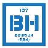 Élément chimique de Bohrium Photographie stock libre de droits