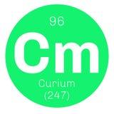 Élément chimique de curium Photographie stock