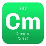 Élément chimique de curium Photo libre de droits