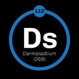 Élément chimique de Darmstadtium Photographie stock libre de droits
