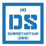 Élément chimique de Darmstadtium Images libres de droits