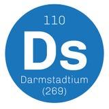 Élément chimique de Darmstadtium Image stock