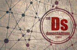 Élément chimique de Darmstadtium Photographie stock