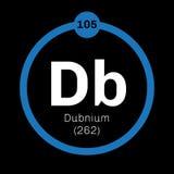 Élément chimique de Dubnium Photos libres de droits