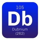 Élément chimique de Dubnium Images libres de droits
