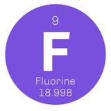 Élément chimique de fluor Photo stock