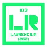 Élément chimique de Lawrencium Image libre de droits
