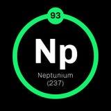 Élément chimique de neptunium Photographie stock libre de droits