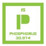 Élément chimique de phosphore Images libres de droits