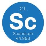 Élément chimique de scandium Photo libre de droits