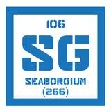 Élément chimique de Seaborgium Photo libre de droits
