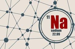 Élément chimique de sodium Images stock