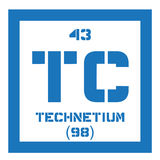 Élément chimique de technétium Photo libre de droits