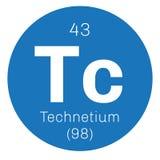 Élément chimique de technétium Photo stock