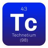 Élément chimique de technétium Photographie stock libre de droits