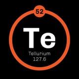 Élément chimique de tellurium Photo stock