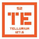 Élément chimique de tellurium Photo libre de droits