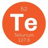 Élément chimique de tellurium Photographie stock libre de droits