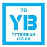 Élément chimique de ytterbium Images libres de droits