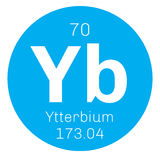 Élément chimique de ytterbium Photographie stock libre de droits