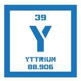 Élément chimique de yttrium Photos stock