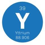 Élément chimique de yttrium Photo libre de droits