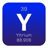 Élément chimique de yttrium Image stock
