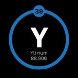 Élément chimique de yttrium Images stock