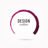 Élément circulaire de conception Illustration abstraite avec la barre de charge initiale Images stock