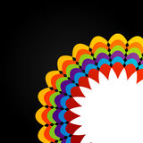 Élément coloré de conception florale pour l'usage de Web Photographie stock libre de droits