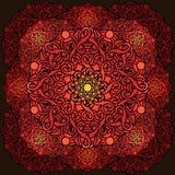 Élément décoratif de conception d'olour de ¡ de Ð avec un modèle circulaire mandala illustration libre de droits