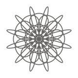 Élément décoratif de fleur de cru Page de livre de coloriage illustration stock
