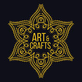 Élément décoratif de logotype ethnique Tiré par la main Photos libres de droits
