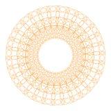 Élément décoratif de rosette d'ornement de guilloche Photographie stock libre de droits