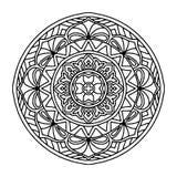Élément décoratif rond d'ornement mandala illustration de vecteur